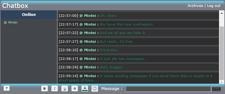 New Chatbox... Yeah. Ch11