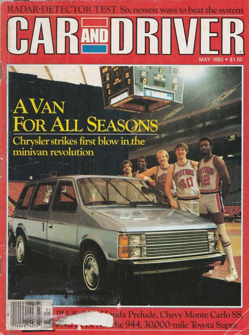"""Magazine """"Car and Driver"""" de mai 1983 avec le premier essai du Voyager! Img_2010"""