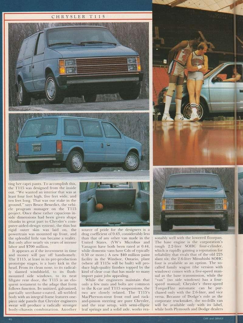 """Magazine """"Car and Driver"""" de mai 1983 avec le premier essai du Voyager! Img_2013"""