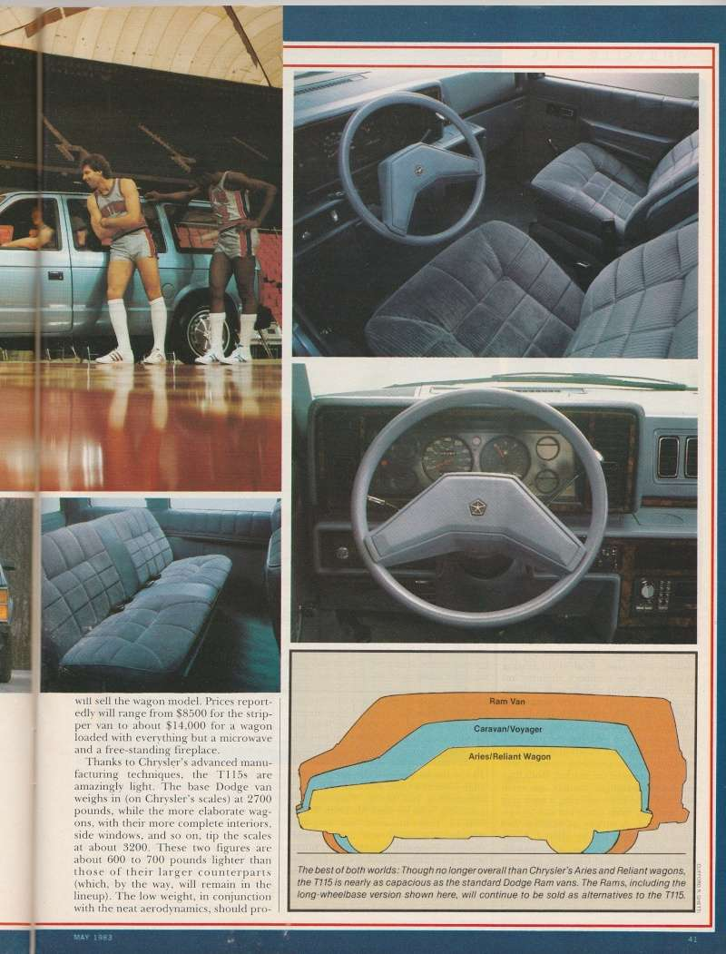 """Magazine """"Car and Driver"""" de mai 1983 avec le premier essai du Voyager! Img_2014"""