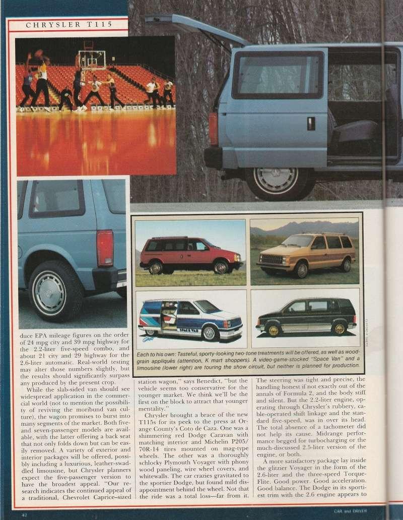 """Magazine """"Car and Driver"""" de mai 1983 avec le premier essai du Voyager! Img_2015"""