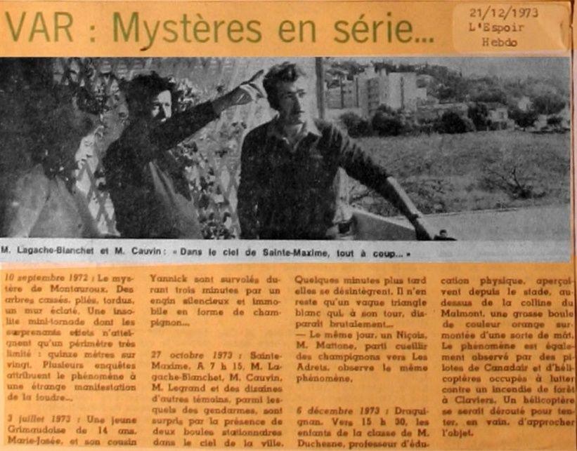 Var - Mystères en Série (Archive Ufo 1973) 410
