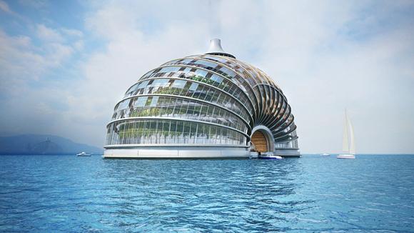 من عجائب عمارة المستقبل: واحة فندقية وسط البحر!! 202010