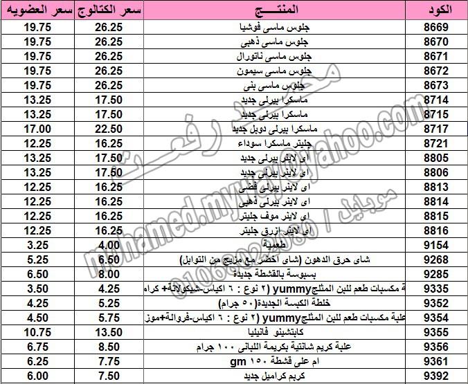قائمة أسعار منتجات ماي واي في كتالوج مارس 2015  ~~ بسعر الكتالوج ... بسعر العضويه ^_^ 10_o13