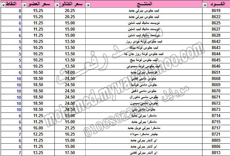 قائمة أسعار منتجات ماي واي في كتالوج يناير 2015 ~~ بسعر الكتالوج ... بسعر العضويه ... عدد النقاط ~~   13_o10