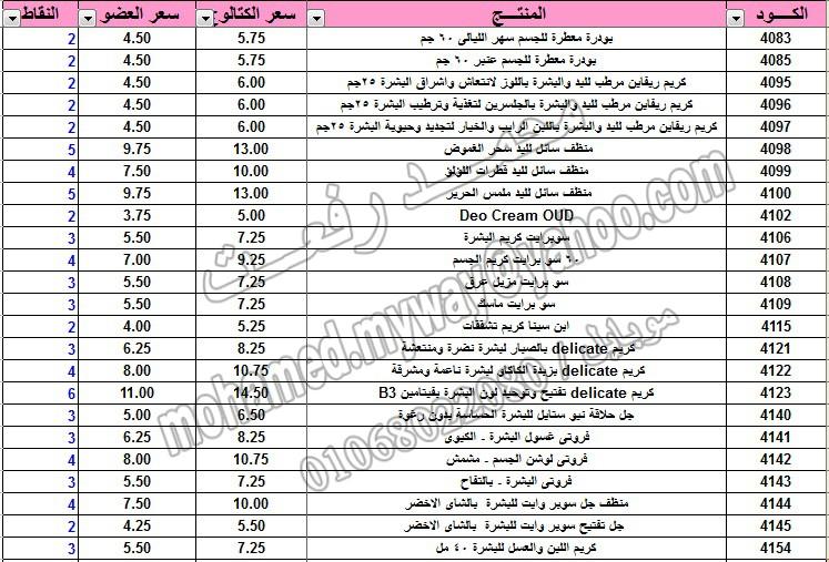 قائمة أسعار منتجات ماي واي في كتالوج يناير 2015 ~~ بسعر الكتالوج ... بسعر العضويه ... عدد النقاط ~~   6_o10