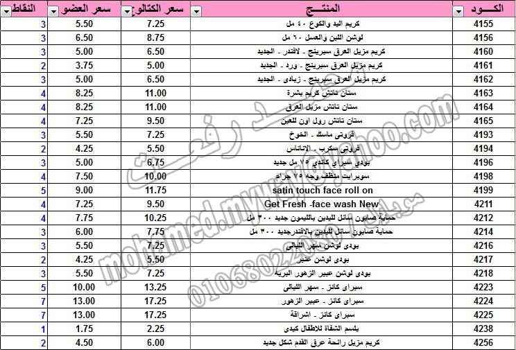 قائمة أسعار منتجات ماي واي في كتالوج يناير 2015 ~~ بسعر الكتالوج ... بسعر العضويه ... عدد النقاط ~~   7_o10