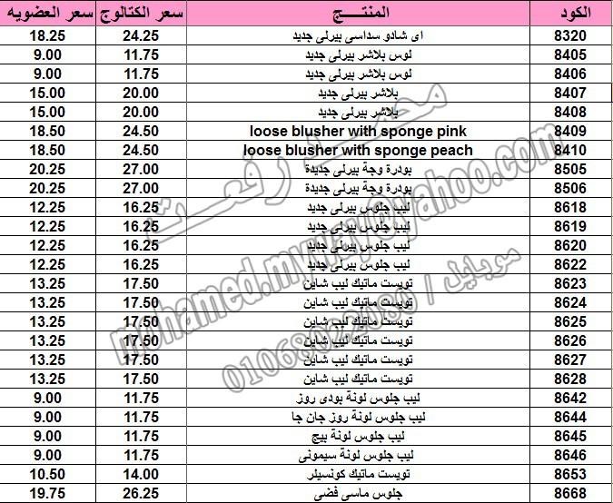 قائمة أسعار منتجات ماي واي في كتالوج مارس 2015  ~~ بسعر الكتالوج ... بسعر العضويه ^_^ 9_o13
