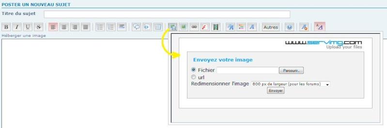 """TUTORIEL 1: """"héberger une image sur le forum"""" _haber11"""