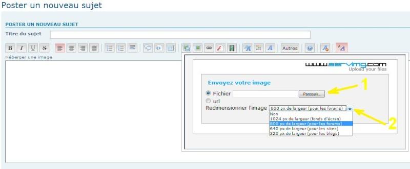 """TUTORIEL 1: """"héberger une image sur le forum"""" _haber12"""