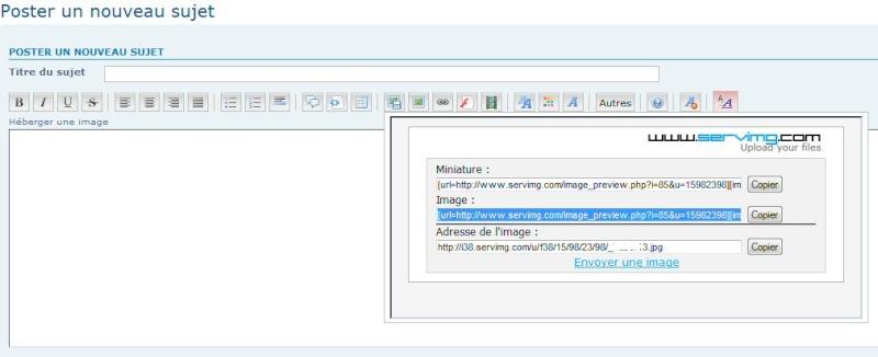 """TUTORIEL 1: """"héberger une image sur le forum"""" _haber14"""