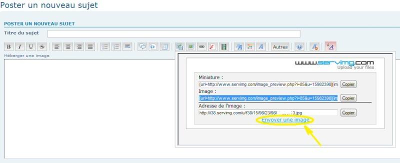 """TUTORIEL 1: """"héberger une image sur le forum"""" _haber15"""