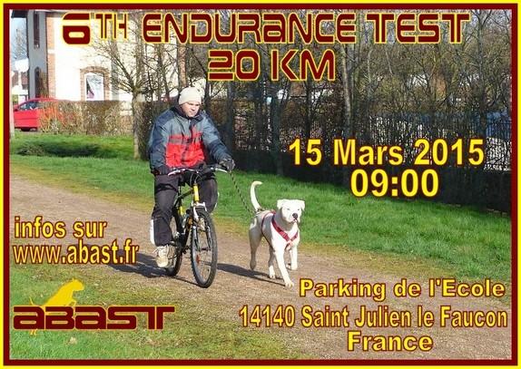 6th Endurance test 20km Ad15211