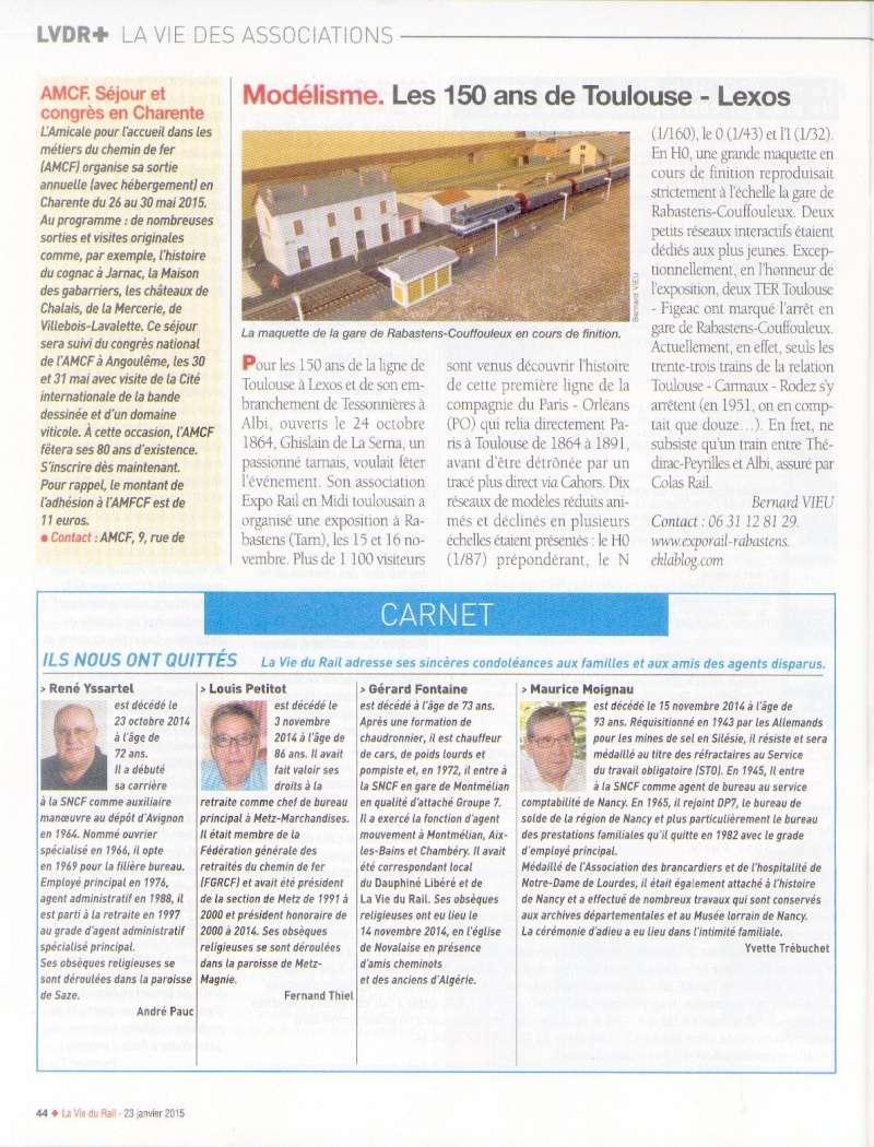 EXPOSITION MODELISME FERROVIAIRE et 150 ANS de la ligne Albi Toulouse, RABASTENS Les  15 & 16 Novembe 2014. Vdr10