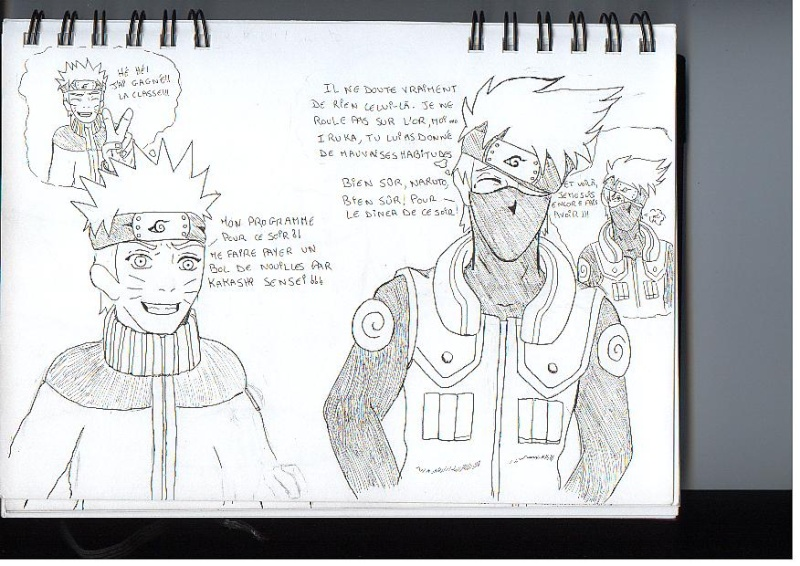 """Mes """"chefs d'oeuvres""""...si on peut appeler ça comme xD Naruto10"""