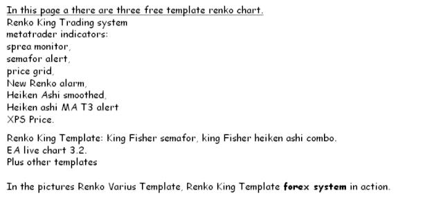 Varios Interesantes Templates para RENKO! Super Estrategias $$ mucho $$