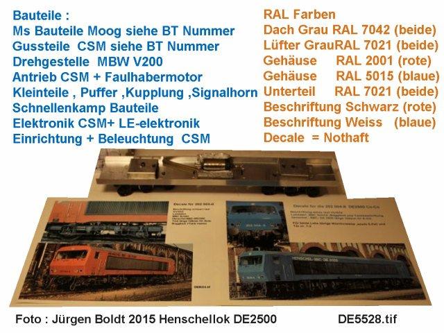 Das dritte Projekt 2014 - Die Henschel-BBC DE2500 Lok in 0 - Seite 2 De552810