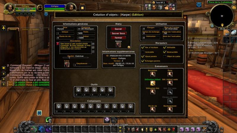 Créer un item sur TRP2 Wowscr11