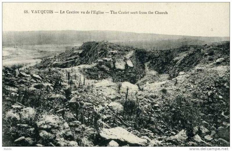 """Vestiges de la """"guerre des mines"""" (Première Guerre Mondiale) visibles dans Google Earth 022_0010"""