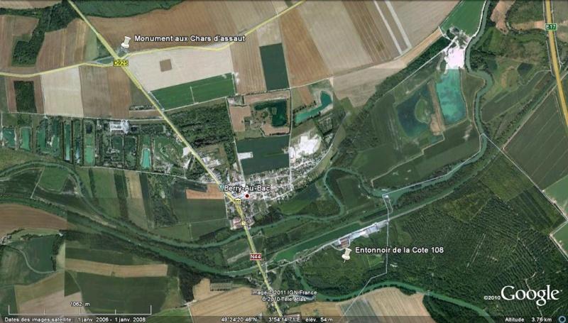 """Vestiges de la """"guerre des mines"""" (Première Guerre Mondiale) visibles dans Google Earth - Page 2 Entonn21"""