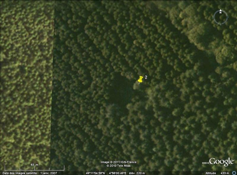 """Vestiges de la """"guerre des mines"""" (Première Guerre Mondiale) visibles dans Google Earth - Page 2 Entonn24"""