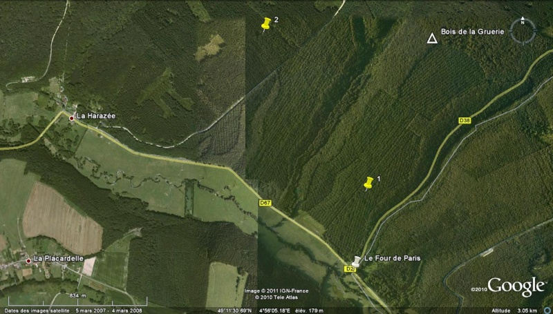 """Vestiges de la """"guerre des mines"""" (Première Guerre Mondiale) visibles dans Google Earth - Page 2 Four_d10"""