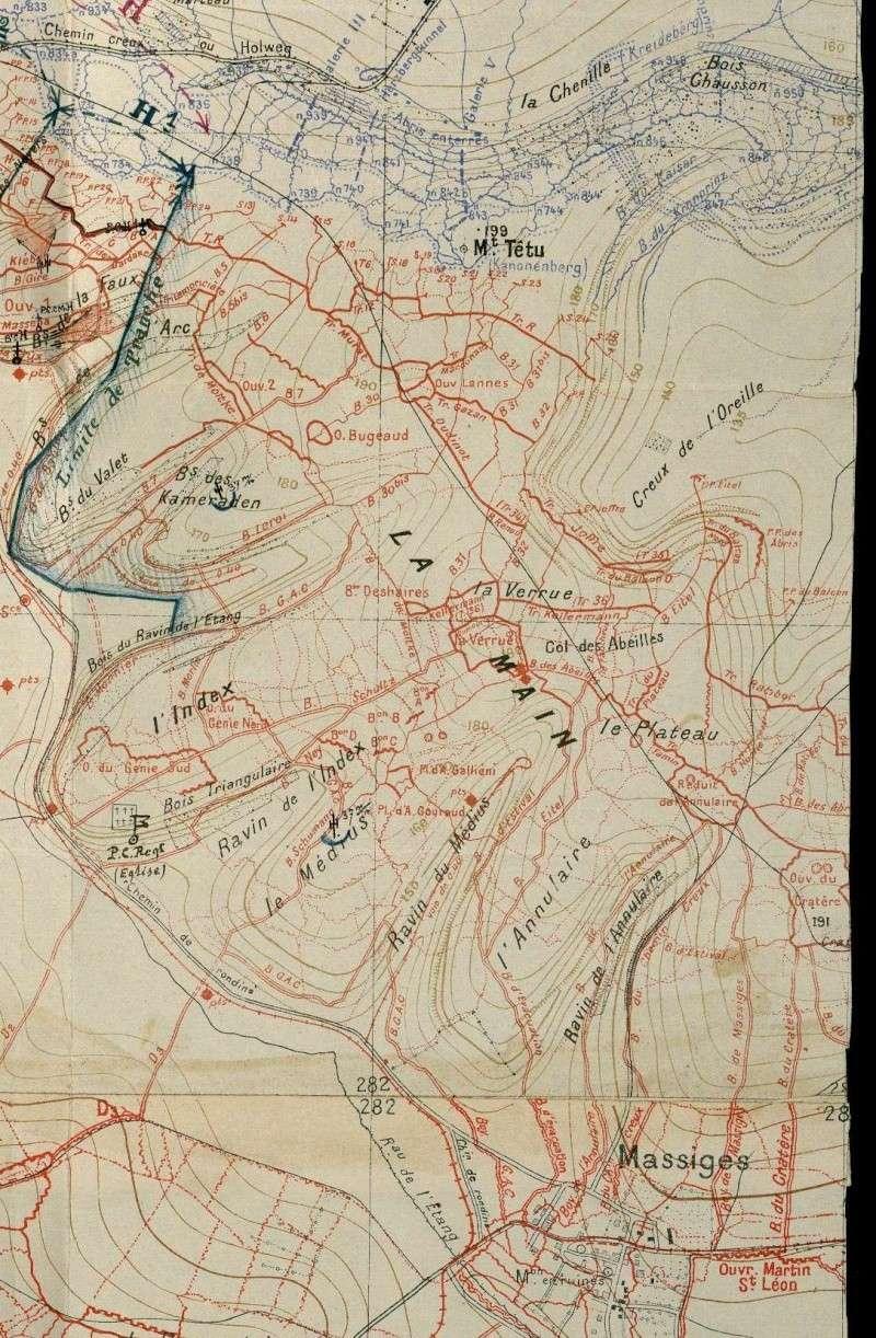 """Vestiges de la """"guerre des mines"""" (Première Guerre Mondiale) visibles dans Google Earth Shdgr_11"""