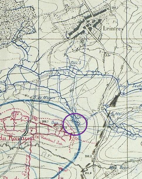"""Vestiges de la """"guerre des mines"""" (Première Guerre Mondiale) visibles dans Google Earth Shdgr_15"""