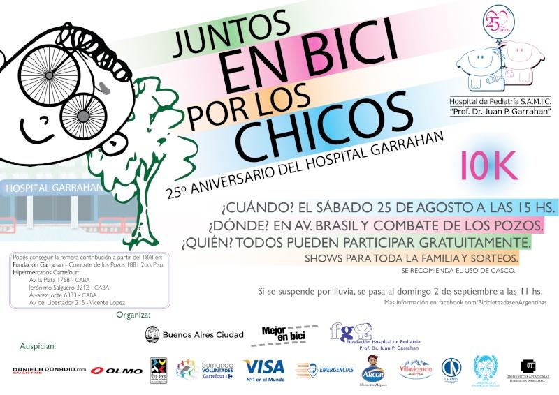 JUNTOS EN BICI POR LOS CHICOS 25/08/2012 Afiche10