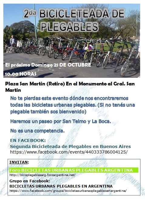 2da. BICICLETEADA DE PLEGABLES EN BUENOS AIRES - 21/10 Segund10