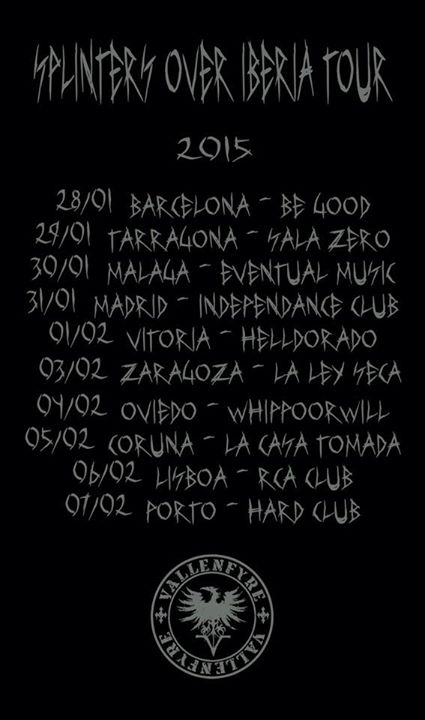 European Splinters tour part 2 beginning at the end of January 10945610