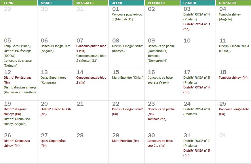 Planning du mois de Janvier Captur21