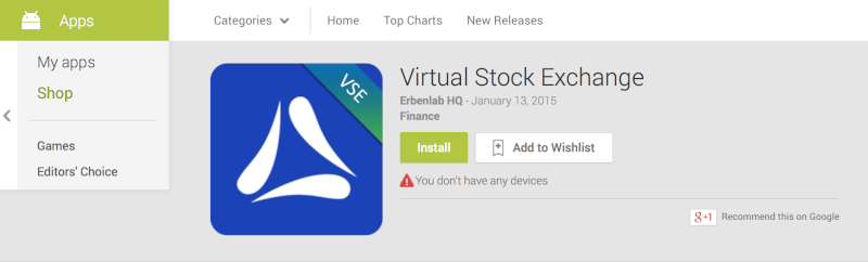 VSE Mobile App Now available in the Google Play Store Screen11