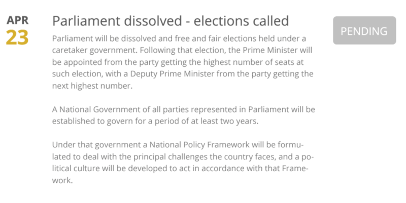 Parliament to be dissolved on 23rd April 2015 Screen14