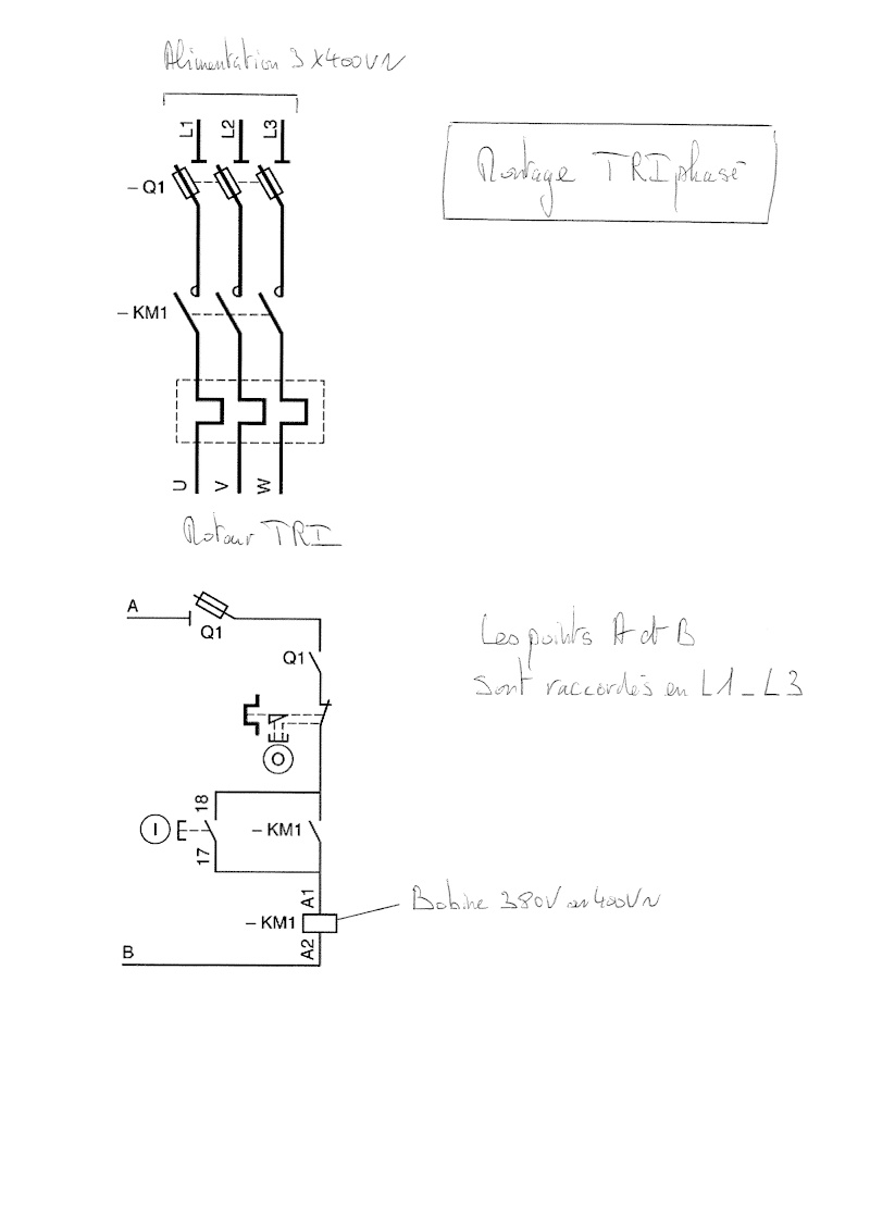 branchement moteur monophas u00e9