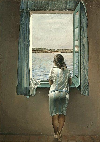 """Muchacha en la ventana"", de Dalí Dali10"