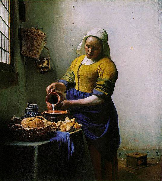 La lechera, Vermeer -Soneto trenzado y normal-  La_lec10