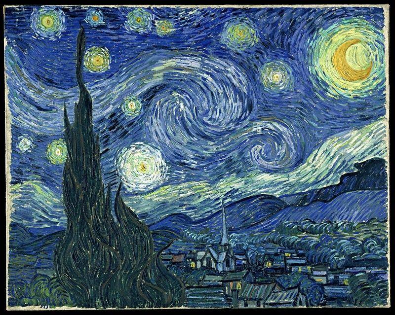 La noche estrellada, de Van Gogh - blanco-  La_noc10