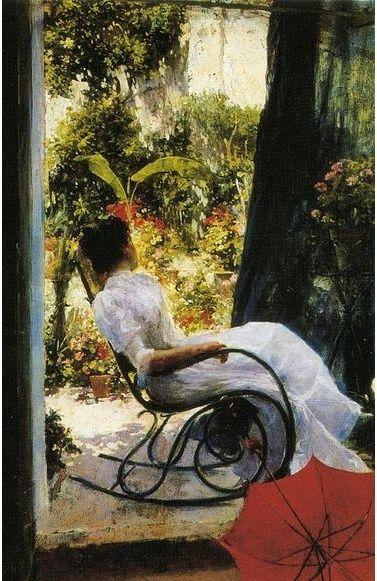 La siesta, de Romero de Torres La_sie10