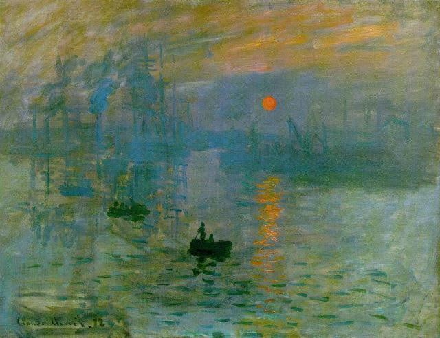 """""""Impresión, sol naciente"""", de Monet. Manet10"""
