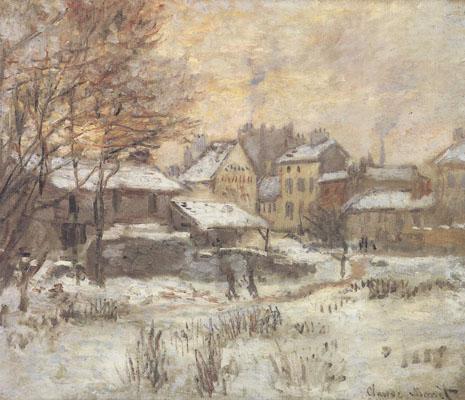 Nieve al atardecer, de Monet Monet-10