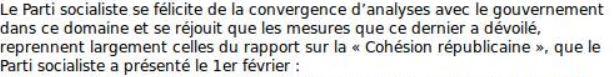 """Le Parti socialiste appelle au """"développement de l'enseignement privé confessionnel musulman"""" en France. Captur17"""