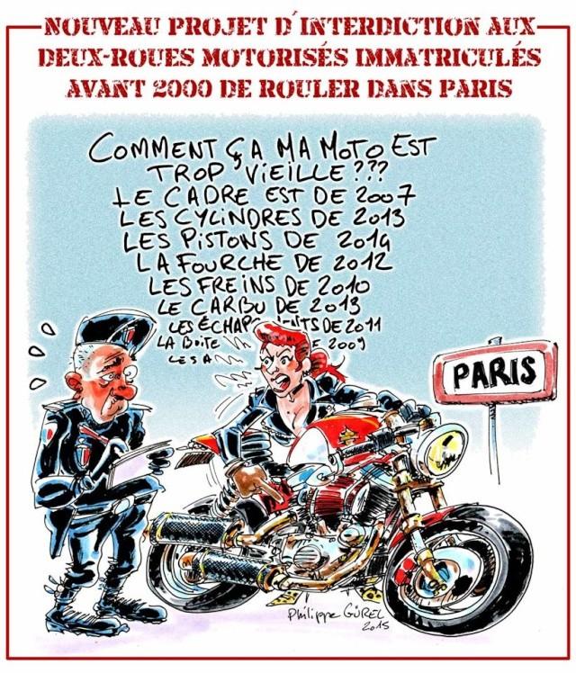Les motos d'avant 2000 bientôt interdites en région parisienne 10941810