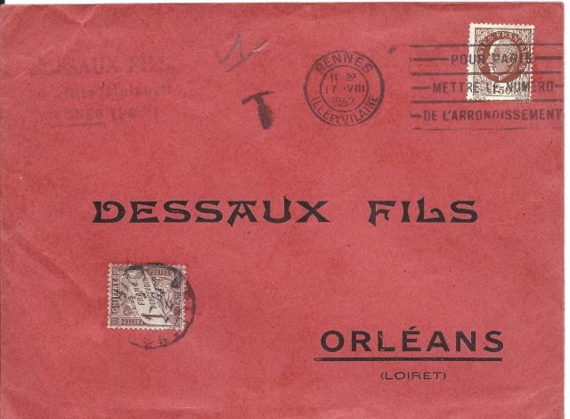 Tarif des lettres pendant la Deuxième Guerre mondiale Recto10