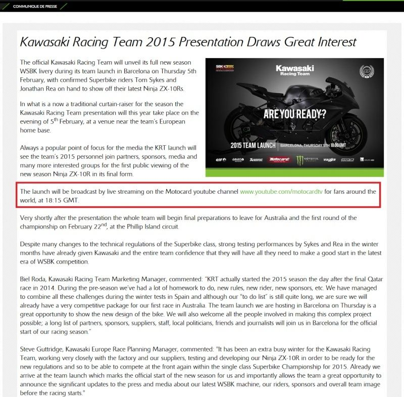 [OFFICIEL KAWASAKI] Kawasaki Racing Team 2015 Presentation Sans_t15