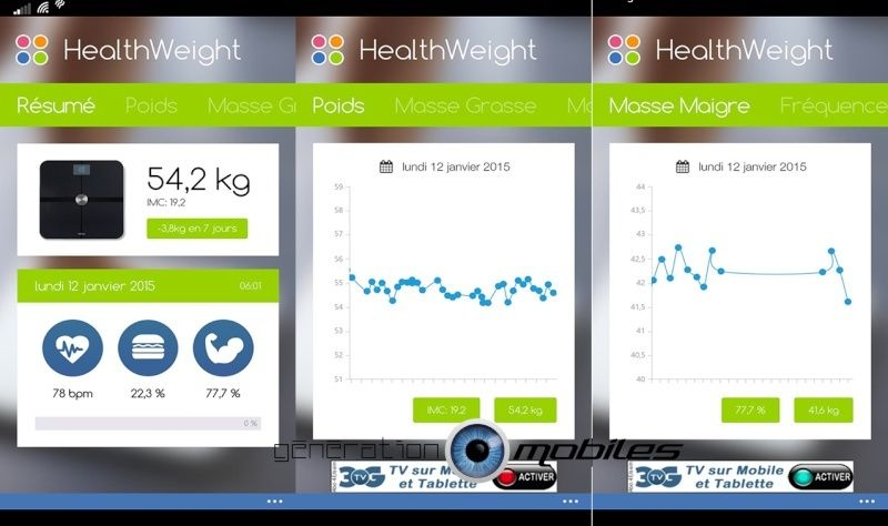 Windows Phone 8.1 :  l'application HealthWeight vient combler un vide Visuel10