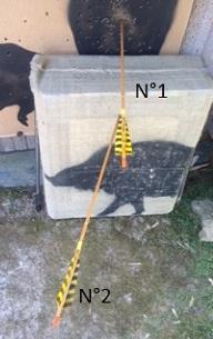 Quelle cible bricolée pour réglages fûts nus Flyche11