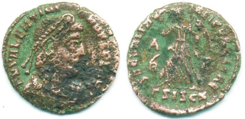 nummus de Valentinien Ier pour Siscia 7_aver10
