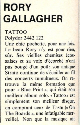 Rory Gallagher : Tattoo (1973) R84-7412