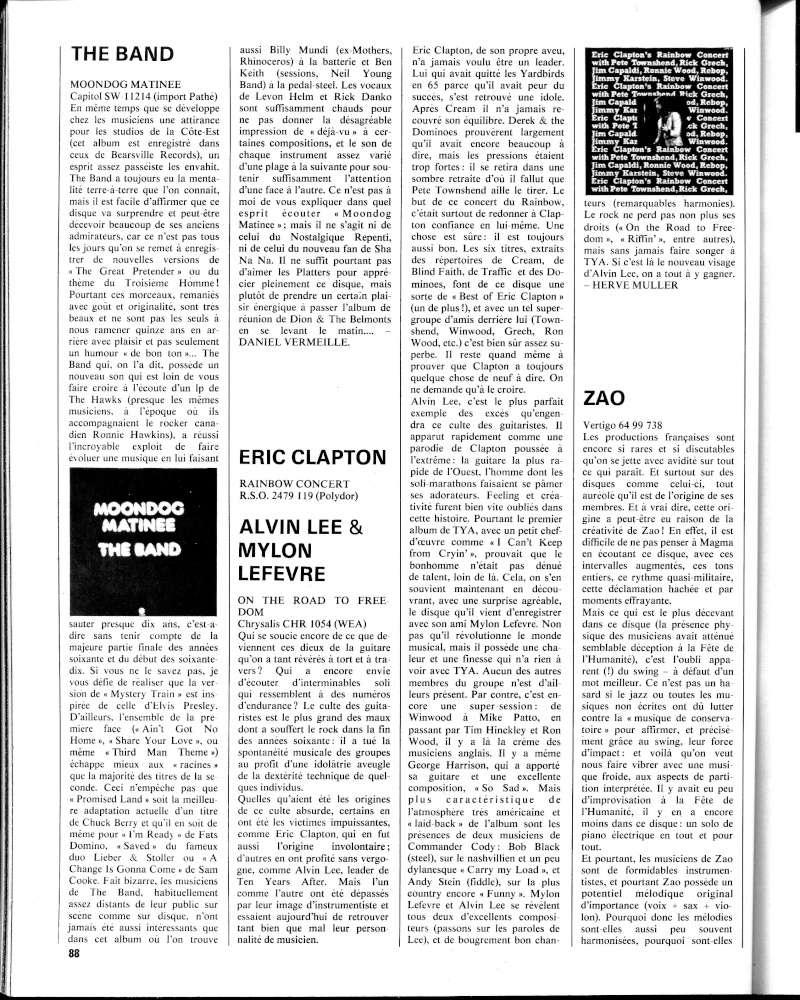 Eric Clapton's Rainbow Concert (1973) R84-7415